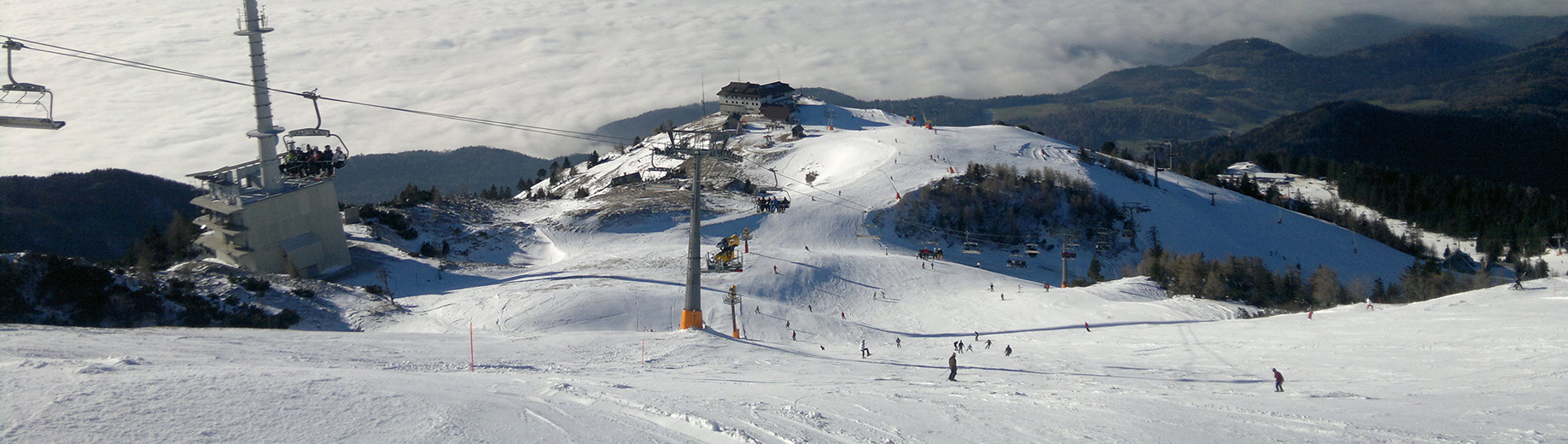 Skiing at Krvavec